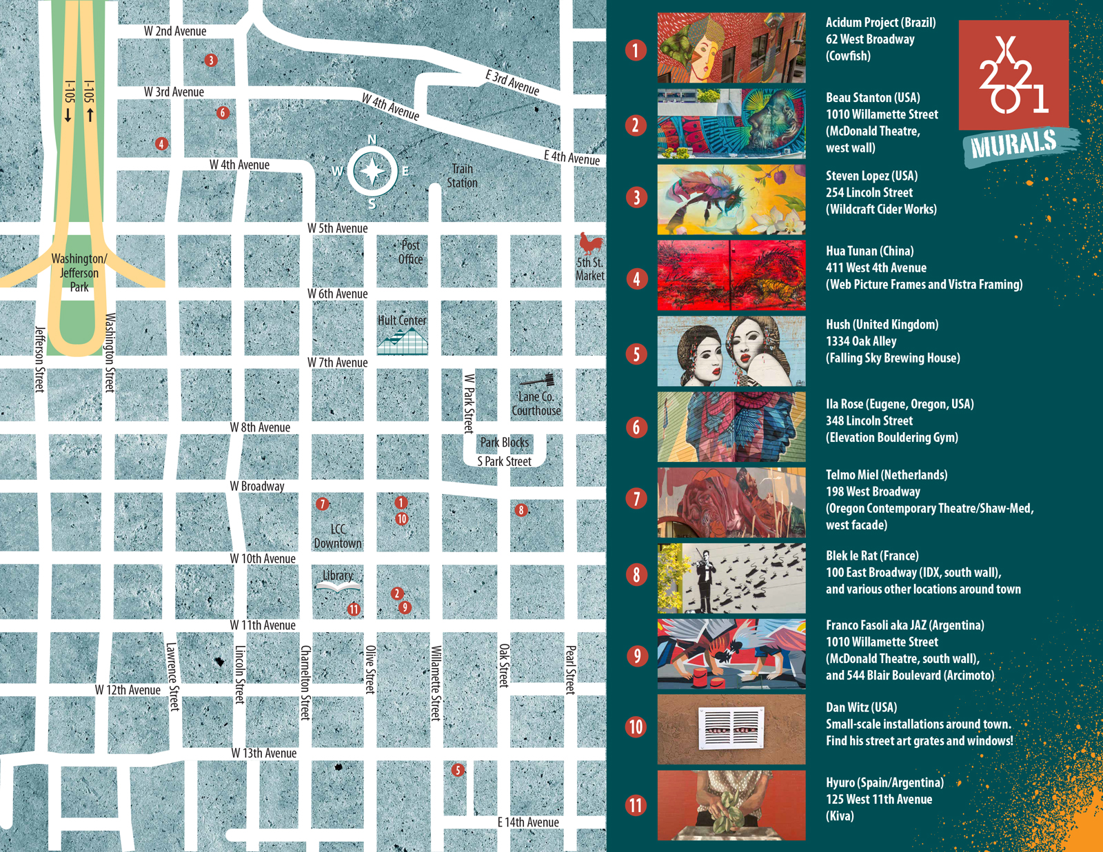 Murals Map
