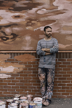 Fintan Magee during Eugene Walls 2019, part of the 20x21 EUG Mural Project.